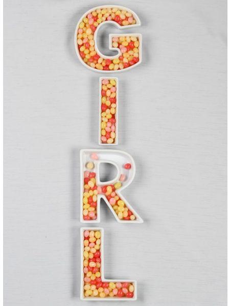 GIRL Letter Dish Set