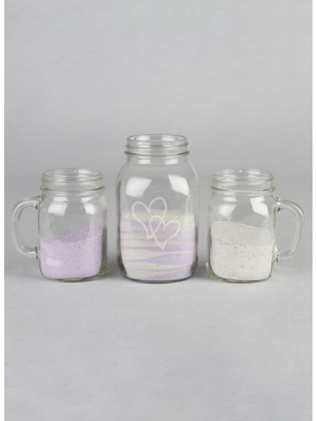Graphic Mason Jar/Mug Sand Ceremony