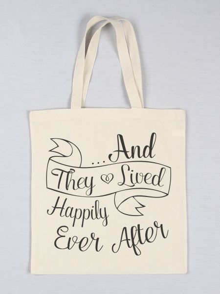Happily Ever After Printed Tote Bag