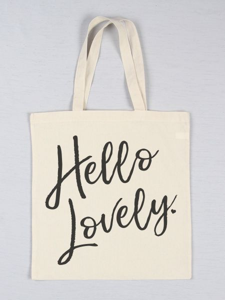 Hello Lovely Printed Tote Bag