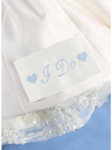 I Do w/Hearts Dress Label, Ivory