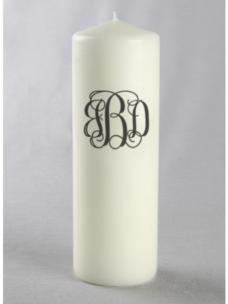 Monogram Pillar Candle