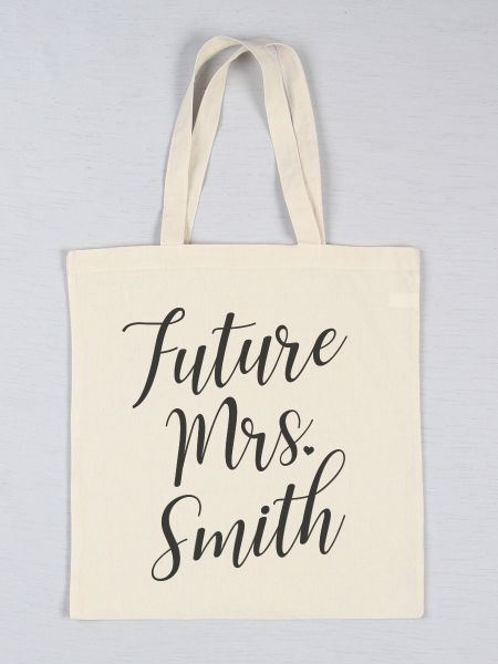 Future Mrs. Printed Tote Bag
