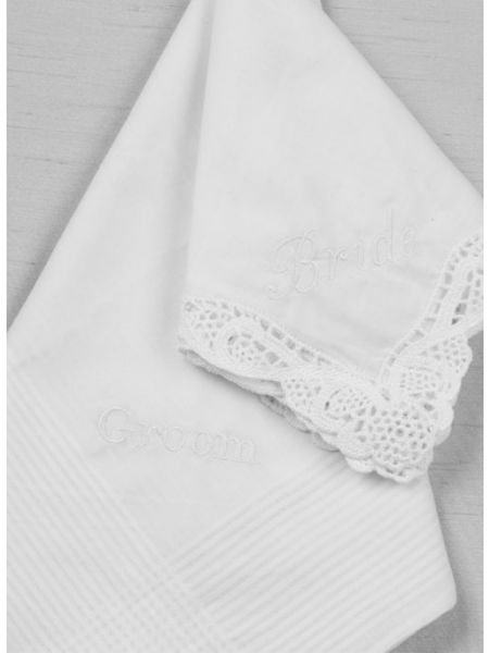 Bride & Groom Embroidered Handkerchief