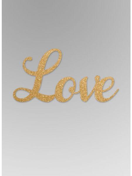 Love Glitter Word