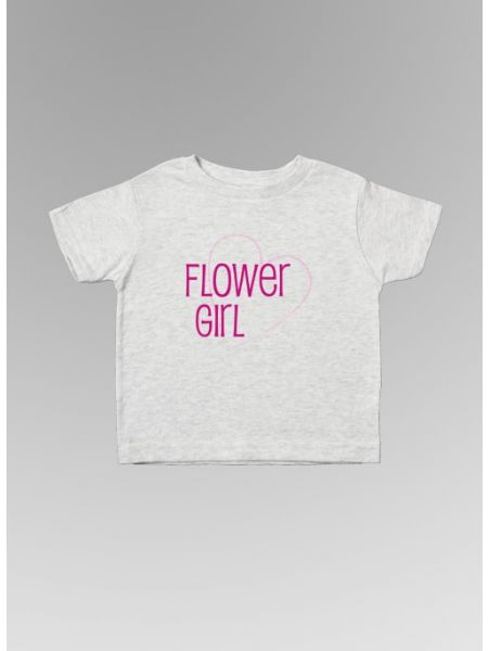 Flower Girl w/Heart Toddler Tee