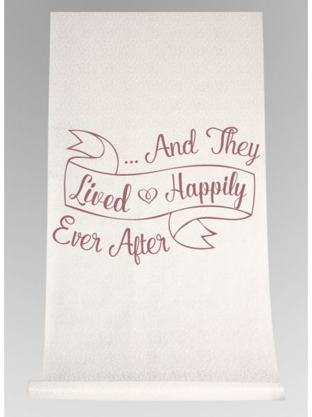 And They Lived... Aisle Runner