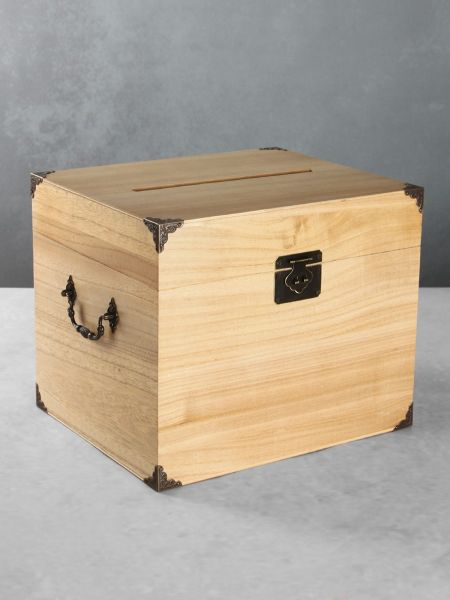 Paulownia Card Box w/Card Slot