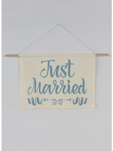 Just Married Canvas Sign