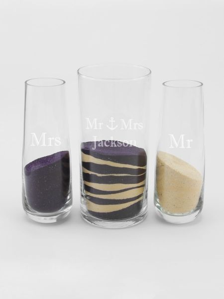 Mr & Mrs w/Anchor Cylinder Set