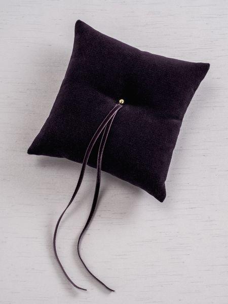 Velvet Ring Pillow - Eggplant