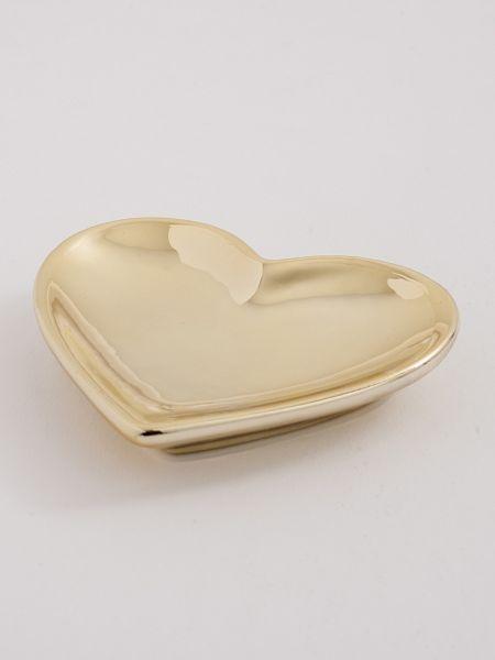 Heart Flat Dish - Gold