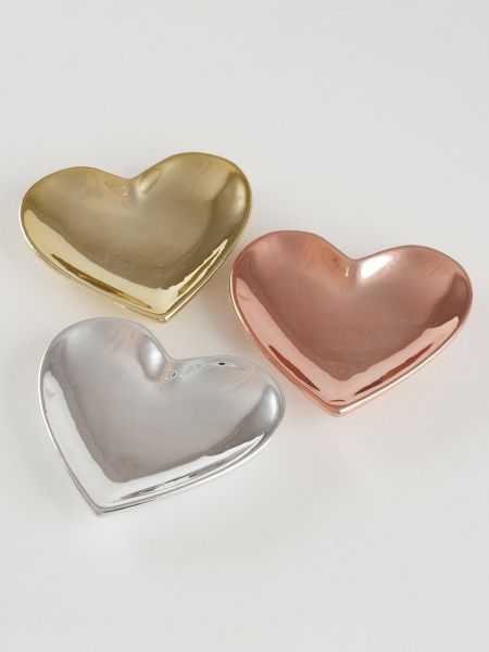 Heart Metallic Trinket Dish