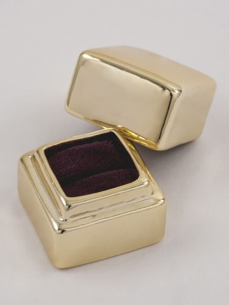 Metallic Electroplate Ring Box