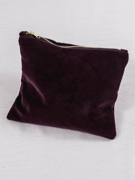 Velvet Cosmetic Bag-Bordeaux