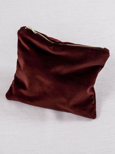Velvet Cosmetic Bag-Brick