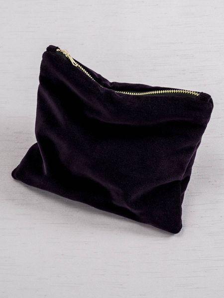 Velvet Cosmetic Bag-Eggplant