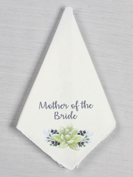 Wedding Party Succulent Handkerchief