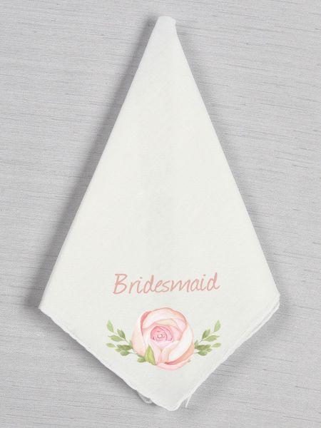 Wedding Party Rose Handkerchief