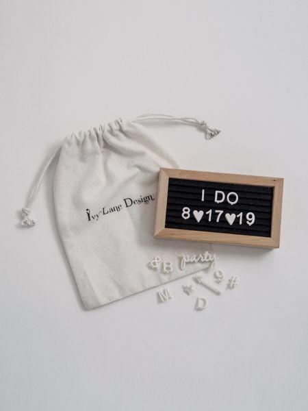 Mini Rectangle Felt Letter Board