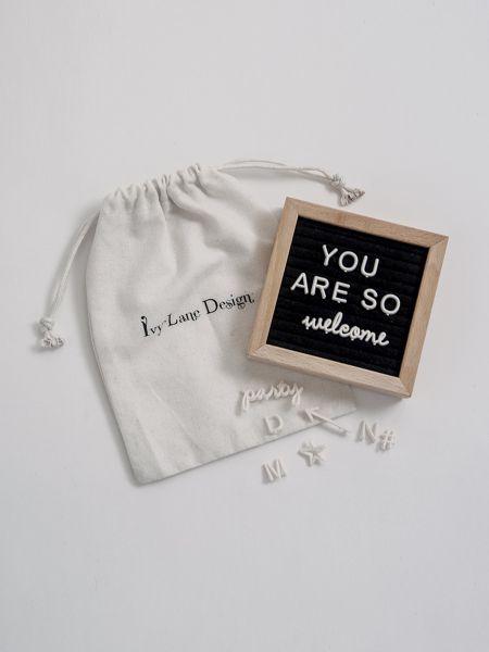 Mini Square Felt Letter Board