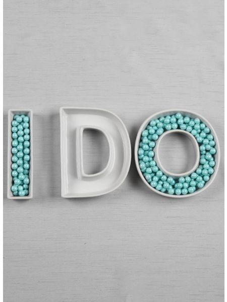 I DO Letter Dish Set