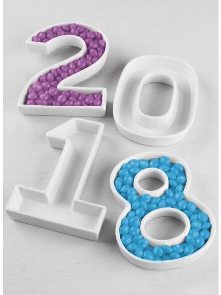 Year Number Dish Set - 4pcs