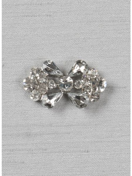 """Butterfly 1 1/8"""" rhinestone brooch"""