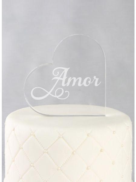 Amor Acrylic Cake Top