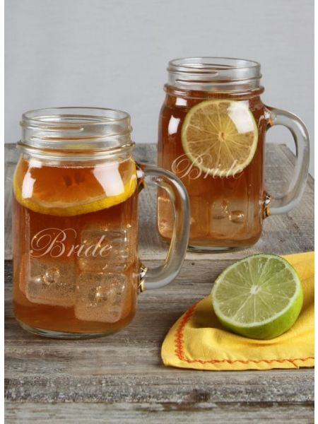 Mason Jar Mug Set Bride / Bride