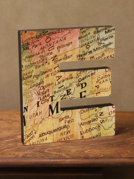 A-Z Map Letter Plaques