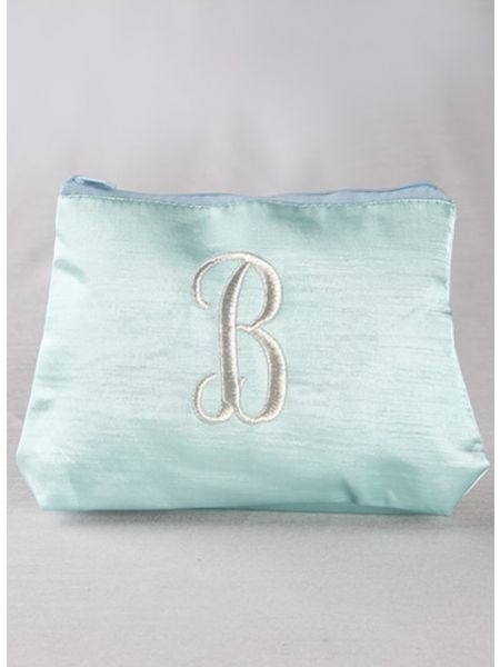 Single Initial Embroidered Cosmetic Bag