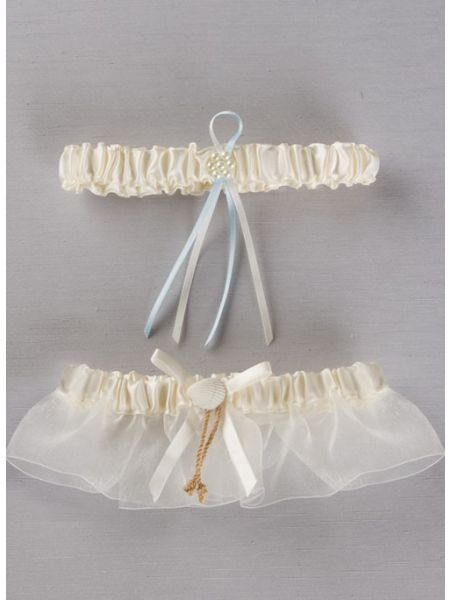 Seashore Bridal Garter Set