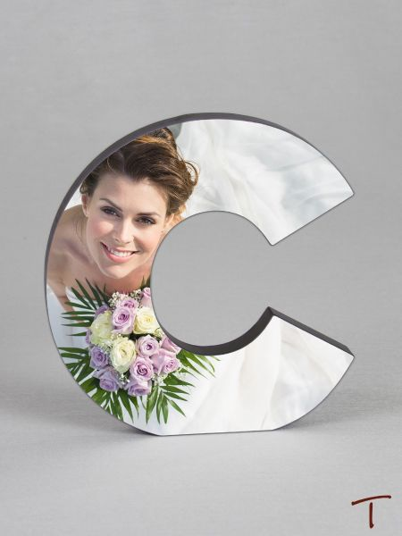 Photo Collage Letter Frame - C