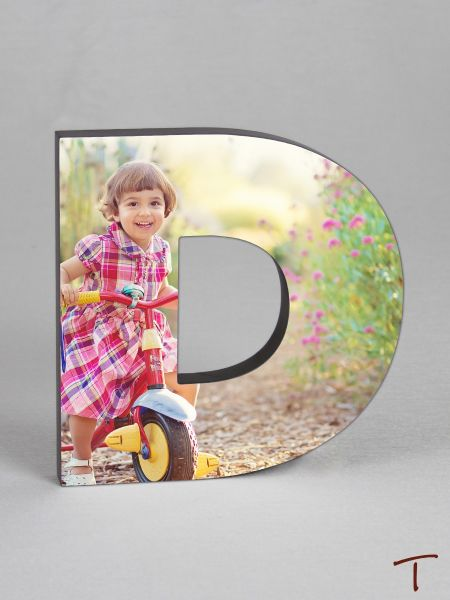Photo Collage Letter Frame - D