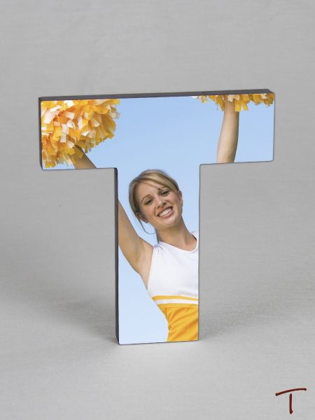 Photo Collage Letter Frame - T