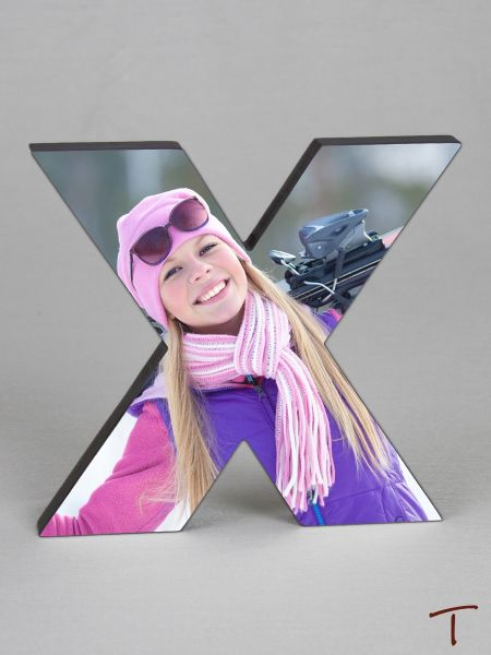 Photo Collage Letter Frame - X