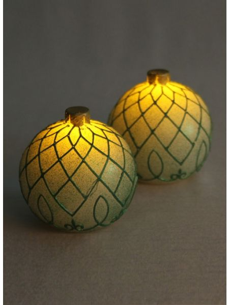 Green Ornament LED Candles