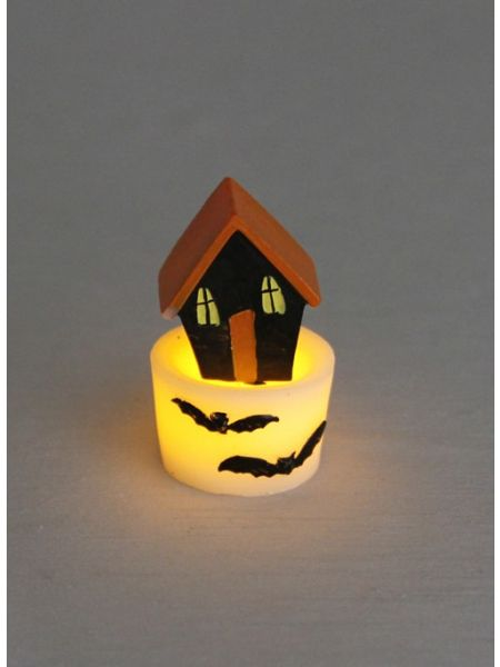 Mini Haunted House LED Candle