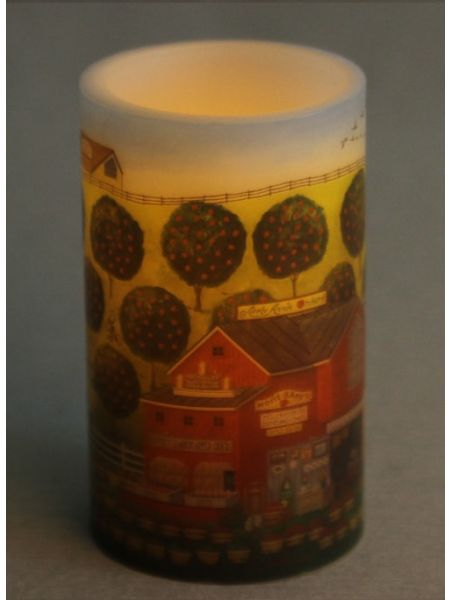 Farm Scene LED Candle