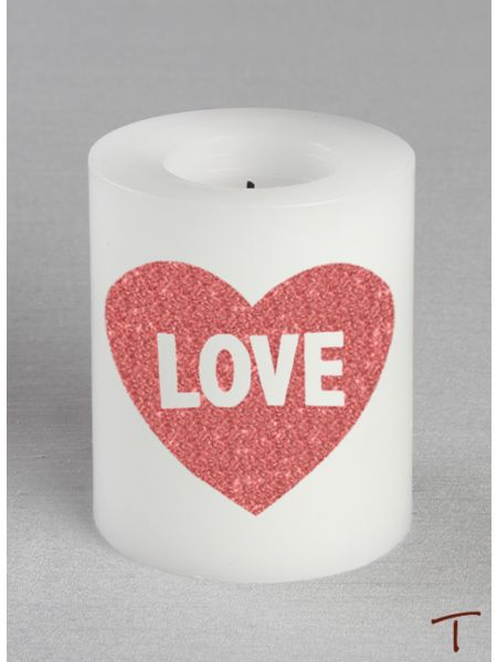 Tenereze Exclusive | Glitter Heart LED Candle