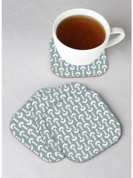 Arrow Design Coasters - Set of 4