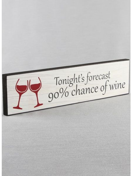 Tonight's Forecast Wood Sign