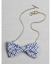 Checkered Bow Tie Necklace