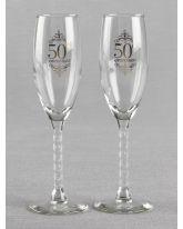 50th Anniversary Toasting Flutes
