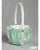 Elsa Matte Sequin Flower Girl Basket