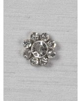 "Round 5/8"" rhinestone brooch"