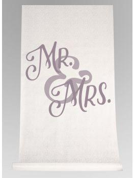 Mr & Mrs Aisle Runner