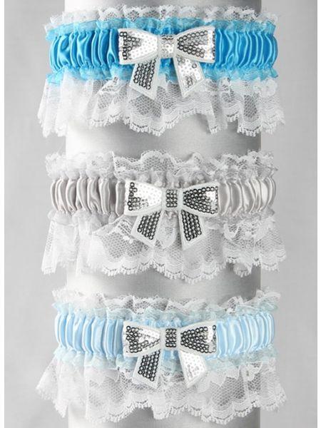 Marilyn Sequin Bow Garter