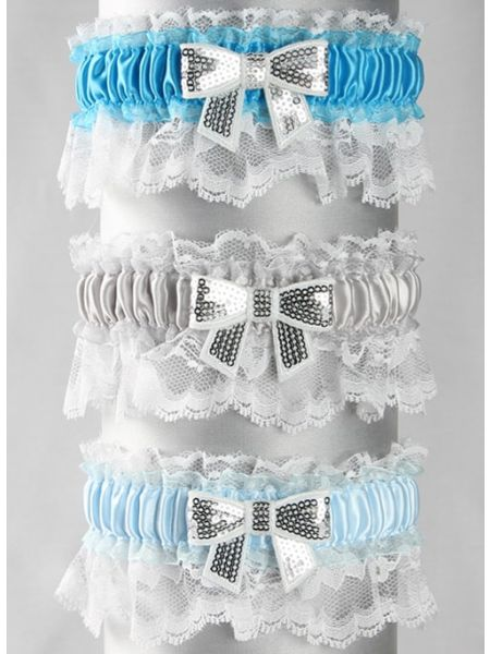 "Anna Custom Garter with 1/4"" Bow"